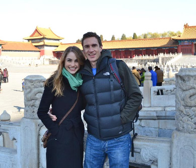 Ryley and I visiting China in 2013