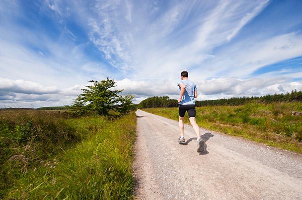 man on a morning run