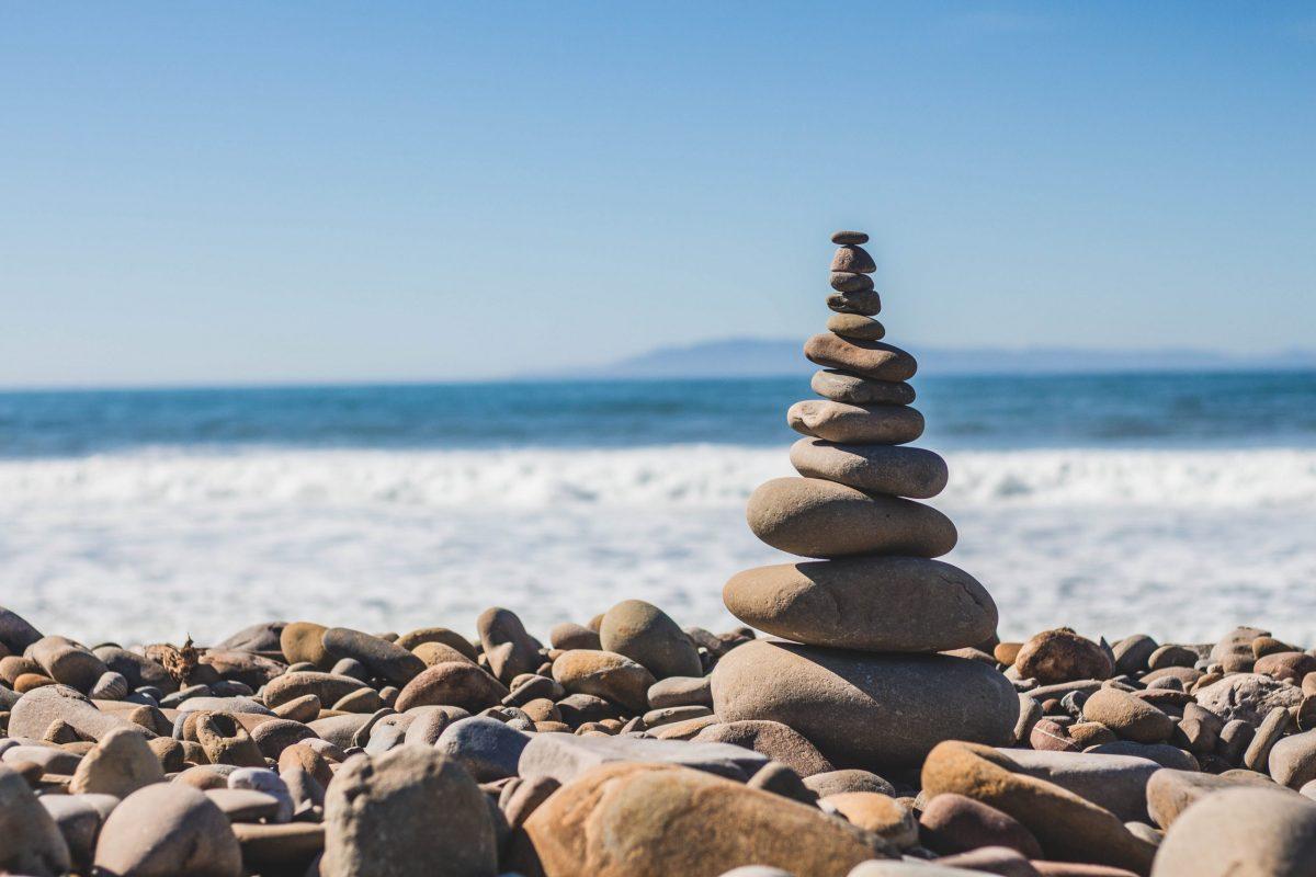 peaceful mindful balanced stones
