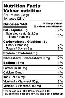 3pm Goji Nutrition Label