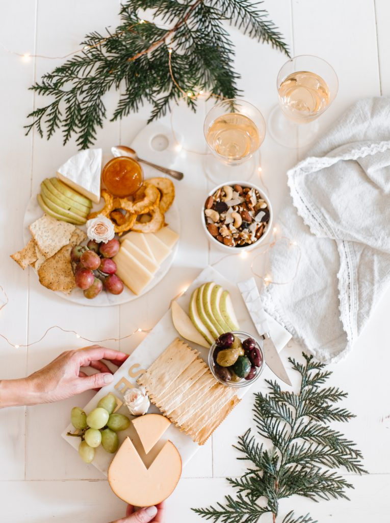 Holiday flatlay featuring Keep it Fraiche snack