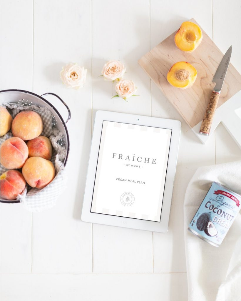 Fraiche at home meal plan book, tori wesszer