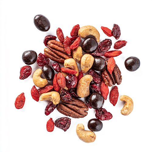 3pm Goji: roasted cashews, toasted pecans, chocolate covered coffee beans, goji berries