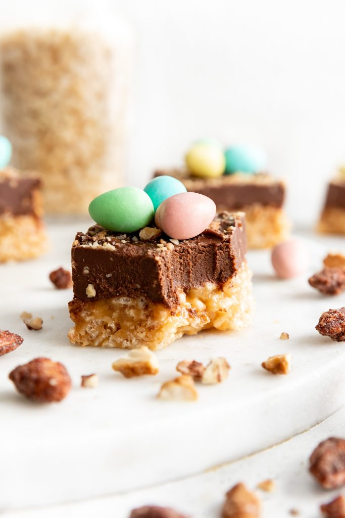 Chocolate Easter Square with Rice Crisps