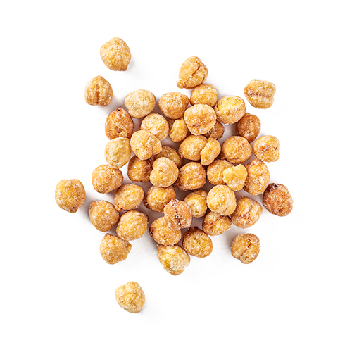 Honeybee Chicks from Laid Back Snacks. Yellow chickpeas roasted in honey.